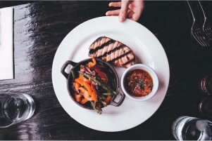 Grilled Tuna steak with vegetables (Cambridge)